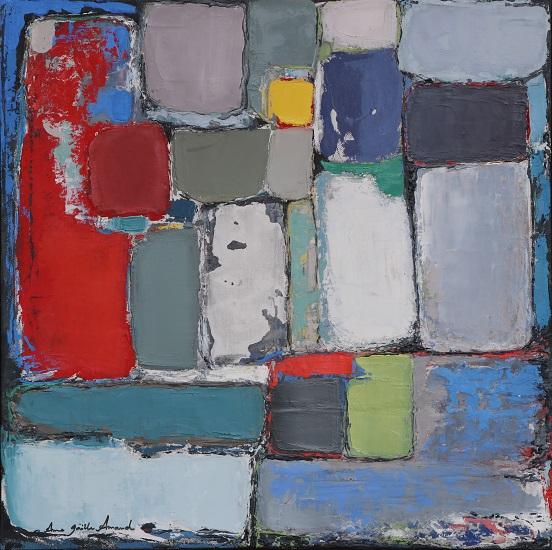 Composition 40x40 cm - 2016 collection particulière Biot