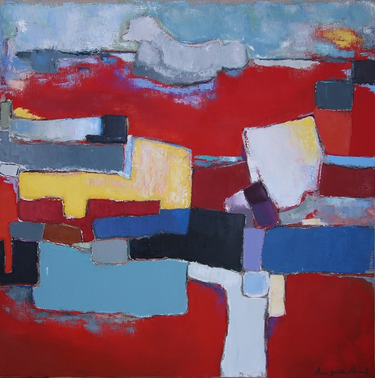 Composition 80x80 cm - 2016 collection particulière Aix en Provence France