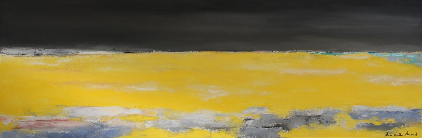 Horizon en jaune 150x50 cm - 2015