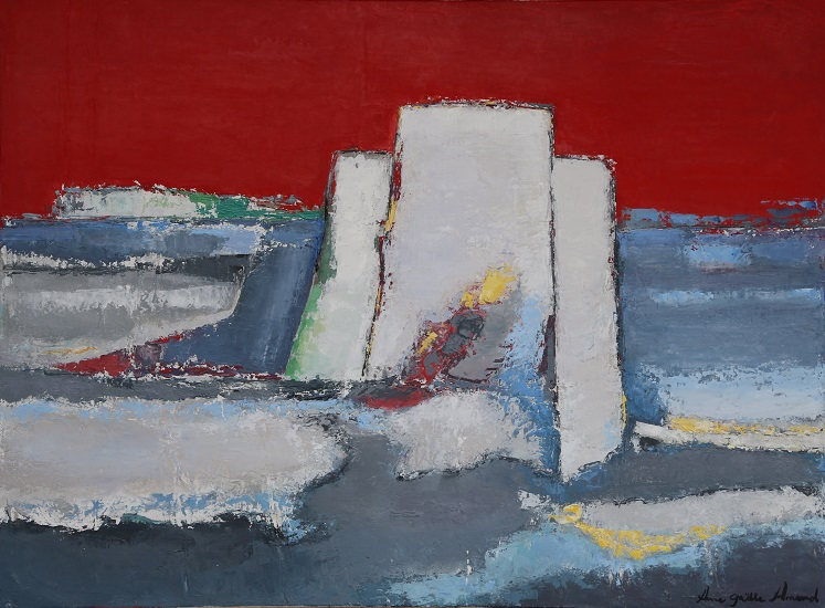 Le Fort Carré soleil couchant 60x81 cm - 2016 collection particulière Sainte Maxime