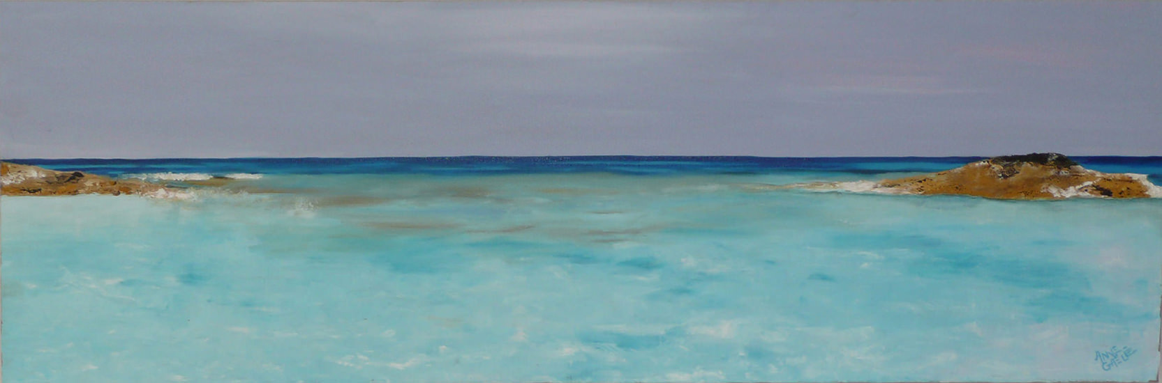Formentera 90x30 cm - 2007 collection particulière Biot France