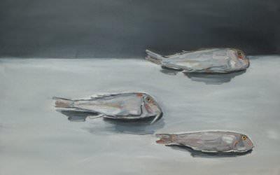 Trois Rougets 81x60 cm - 2013