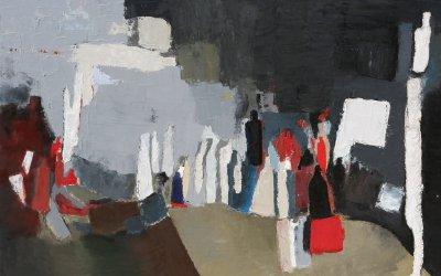 Bouteilles Hommage à De Staël 130x89 cm - 2011