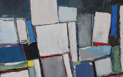 Composition Vert émeraude 130x89cm - 2017 collection particulière Valence