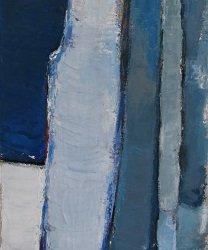 Composition Cobalt 30x90cm - 2014 collection particulière Suresnes