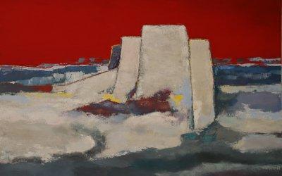 Le Fort carré soleil couchant 100x73 cm - 2016