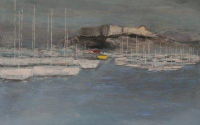 Le Fort Carré et bateau jaune 60x81 cm - 2015