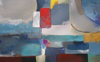 Composition Abstraite 90x90 cm - 2010 collection particulière Grasse France