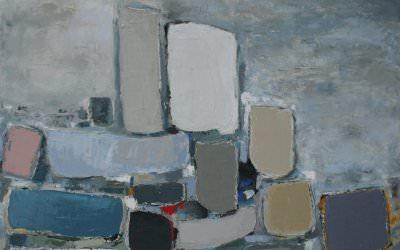 Composition en Blanc 90x90 cm - 2012 collection particulière Montélimar France