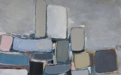 Composition en Gris 90x90 cm - 2013 collection particulière Montpellier