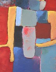 Soleil Couchant 120x40 cm - 2012 collection particulière Valence France