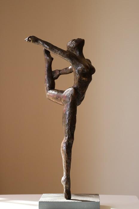 Danseuse sur pointes - Bronze pièce unique 30cm - 2017
