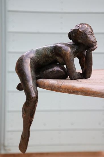 Danseuse en body bronze 45cm - 2016