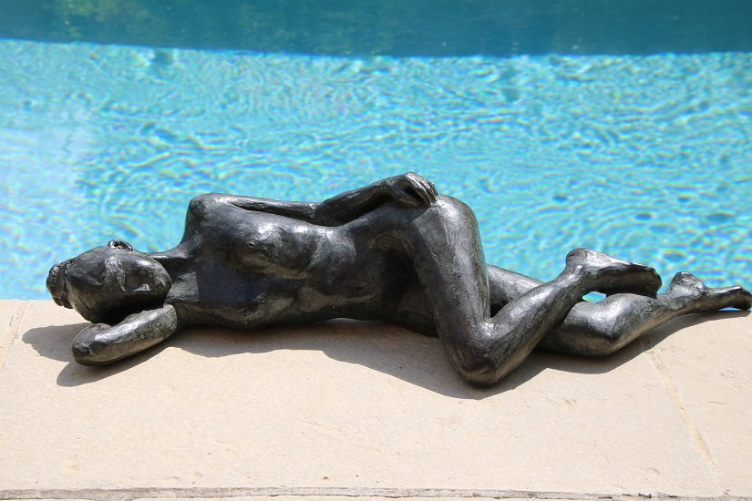 Jeune femme alanguie Bronze 60 cm - 2016