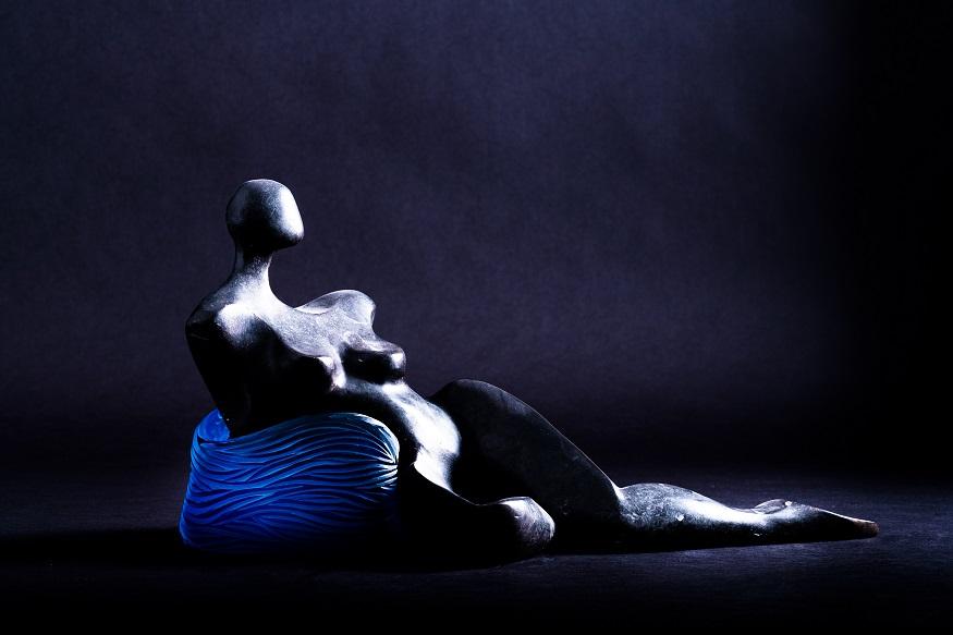 Vague à l'Âme - Œuvre à 4 mains Bronze et verre soufflé Antoine Pierini - 2020